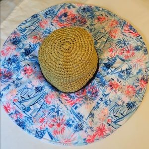 Lilly Pulitzer Sea to Shining Sea Floppy hat NWT
